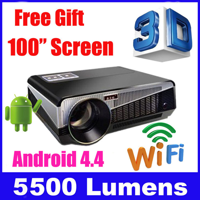 5500 Lumens Smart Lcd Tv Led Projector Full Hd Support: Aliexpress.com : Buy 5500 Lumens Smart Android 4.4 Lcd Tv