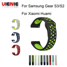 Rubber Strap for Samsung Gear S3 S2 sport Frontier Classic Silicone Watch Band xiaomi huami amazfit bip pace lite belt 22mm 20mm black leather strap for samsung gear s3 frontier samsung classic watch band for xiaomi huami amazfit bip pace lite strap