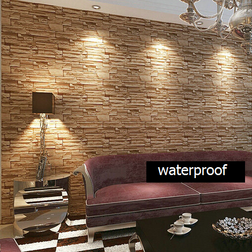 Beibehang Modern Style 3D Wallpaper Stone Brick Design Background Wall PVC  Wallpaper Papel De Parede Tapete