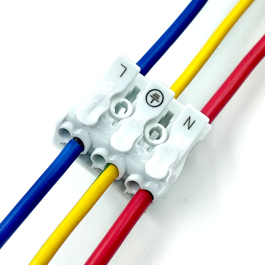 923 Fast Connection connector 2/4/5/3pin Pressure Terminals Platform Plug-in LED Weld-free distributor
