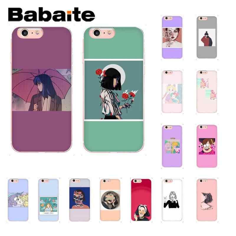 Babaite Красивая аниме девушка клиент высокий чехол для телефона iPhone 8 7 6 6S Plus X XS MAX 5 5S