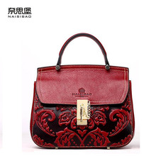NAISIBAO high-quality fashion luxury brand 2016 new shoulder diagonal genuine leather bag counter genuine, women's well-known br