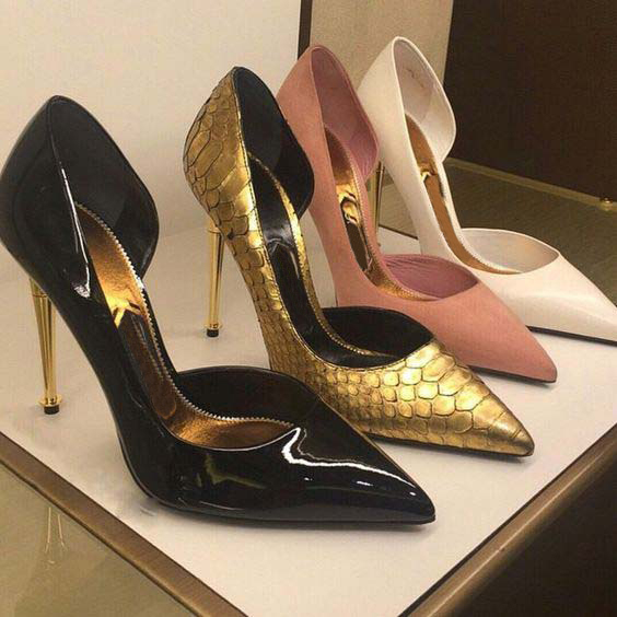 Fashion Trend Pointed Toe Metal Heel Pumps Slip On Spring Autumn High Heels High Quality Wedding Party Dress Shoes Women womens shoes high heel woman pumps spring autumn basic silk slip on pointed toe thin heels sexy wedding shoes ljx04 q
