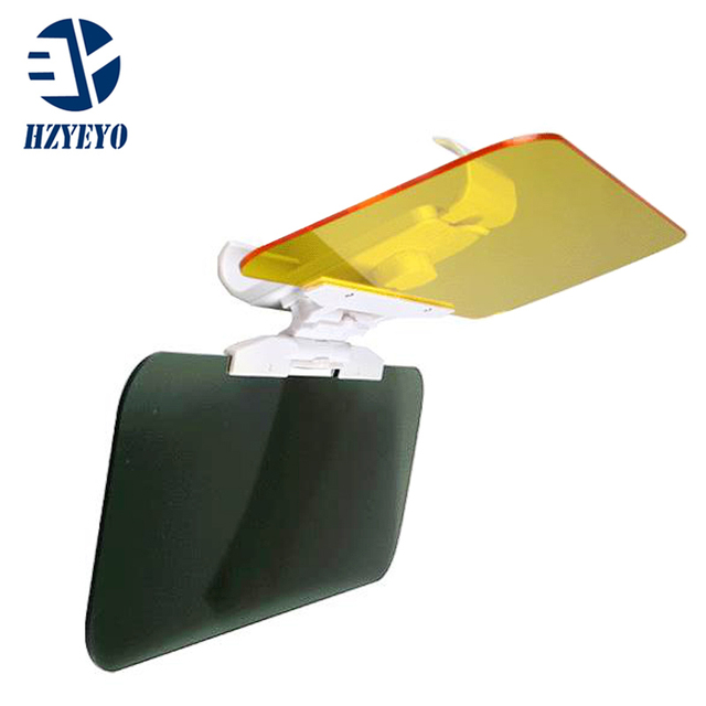 HZYEYO  Car Sun Visor Anti Dazzling Mirror For Driver Day & Night Vision Auto Driving Mirror Car Clear View Glass Accessories