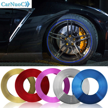 цена на 8M Car Wheel Rim Sticker Auto Tire Rims Plated Strip Protection Decoration Car-styling Moulding FOR BMW AUDI VW FORD MAZDA