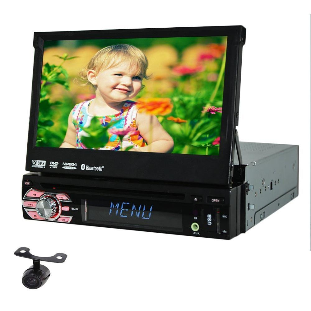 1 Din Car Stereo GPS Navigation 7 Inch Touch Screen Car