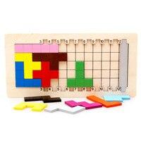 Baby Educational Toys Katamino Blocks Wood Learning Tetris Blocks Tangram Slide Puzzle Building Blocks Children Wooden