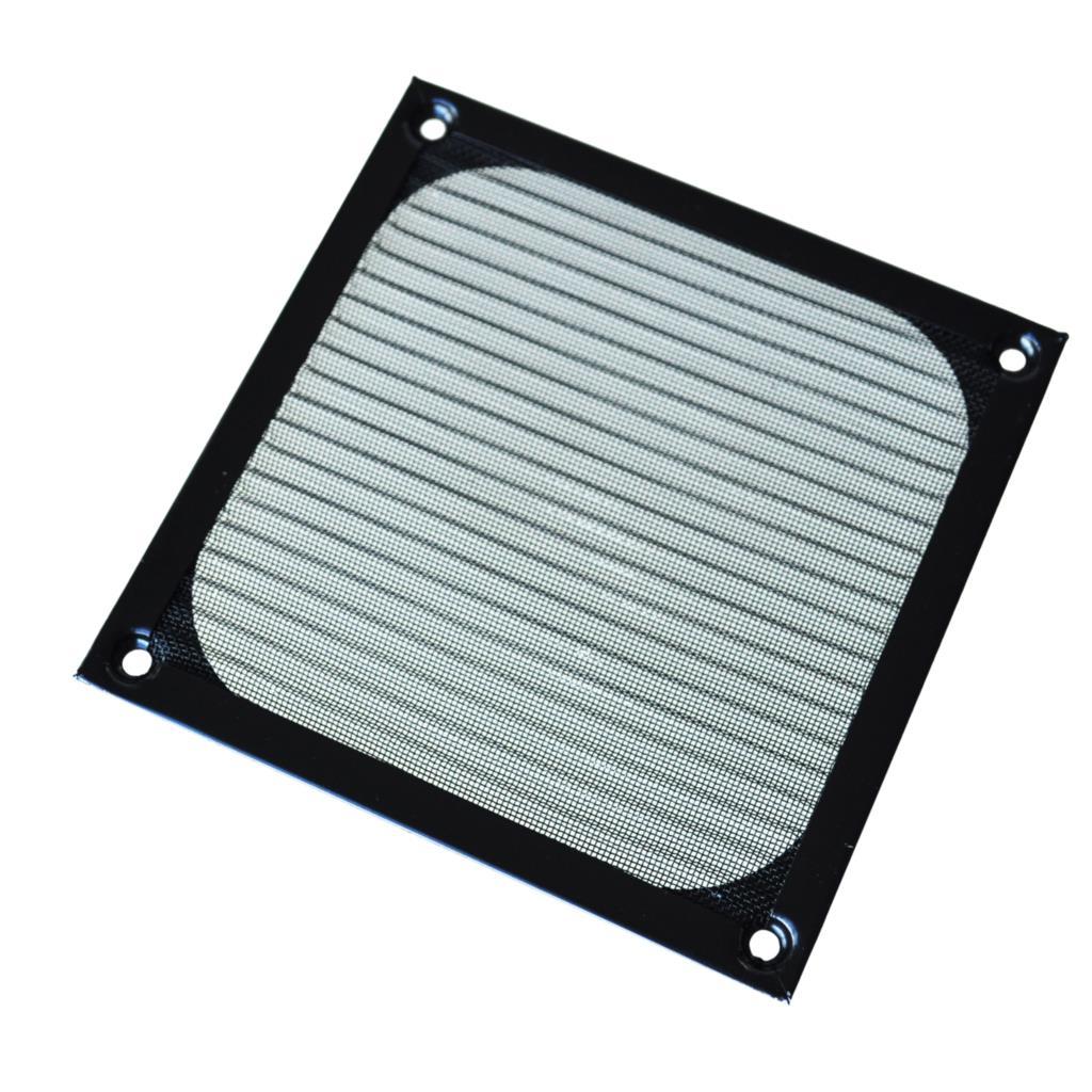 GTFS-12cm X 12cm PC Cooler Fan Aluminum Dustproof Meshy Filter Black