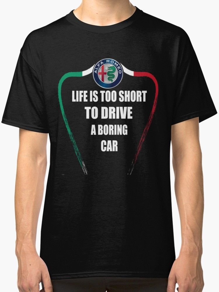 Hip Hop Clothing Cotton Short Sleeve T Shirt Life is too Short to Drive a Boring