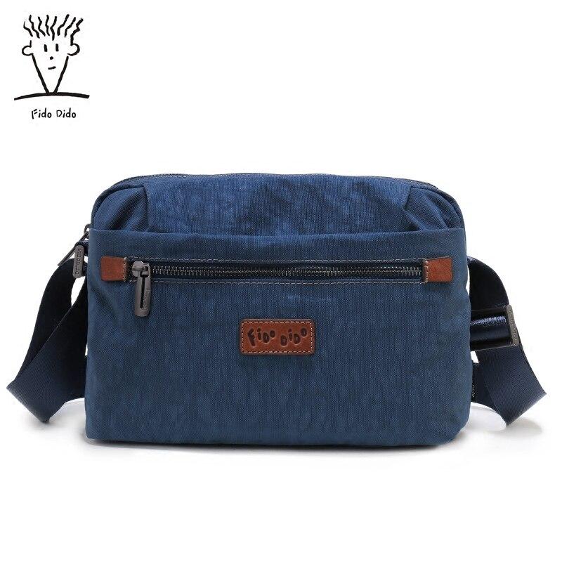 Fido Dido Men Messenger Bags School Canvas Single Shoulder Bags Crossbody Bag For Traveling !! fido