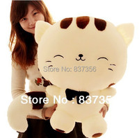 Free Shipping 80cm Large Plush Toys Hold Pillow Big Face And Tail Cat Plush Doll Brithday