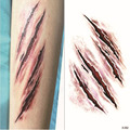 Waterproof Temporary Tattoo custom make Halloween horror wound blood wound scar logo stickers