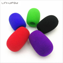 Linhuipad 5Pcs Colorful Foam Microphone windscreens mic windshields foam cover with 11mm hole and 40mm length for PC microphones
