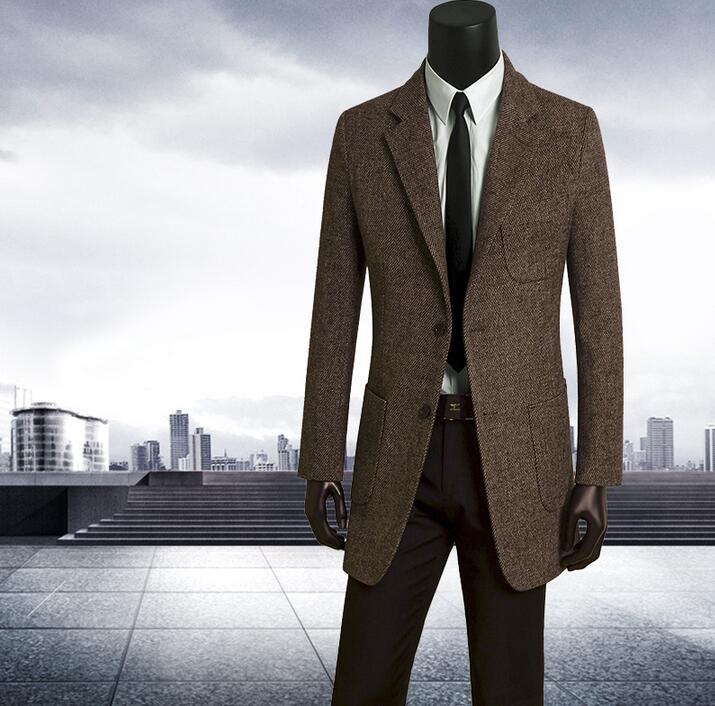 masculino wolle männer 9XL einreiher schlank braun herren S graben plus 2019 herbst mäntel mantel in mantel casaco mode 18OFF größe 56 lange US88 kuOXZiP