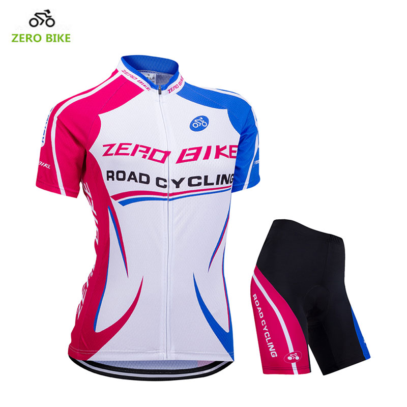 ZEROBIKE 2018 Womens Cycling Jersey Shorts Summer Short Sleeves Cycling Set Bike Bicycle Clothing Ropa Ciclismo Sports Suit
