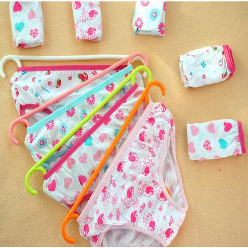 10Pcslot Baby Girls Underwear Cotton Panties For Girls Kids Short Briefs Children -7010