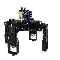 DIY Full Set 12DOF Robot Hexapod Spider Frame Kits Bracket Accessories LCR4 an unassembled