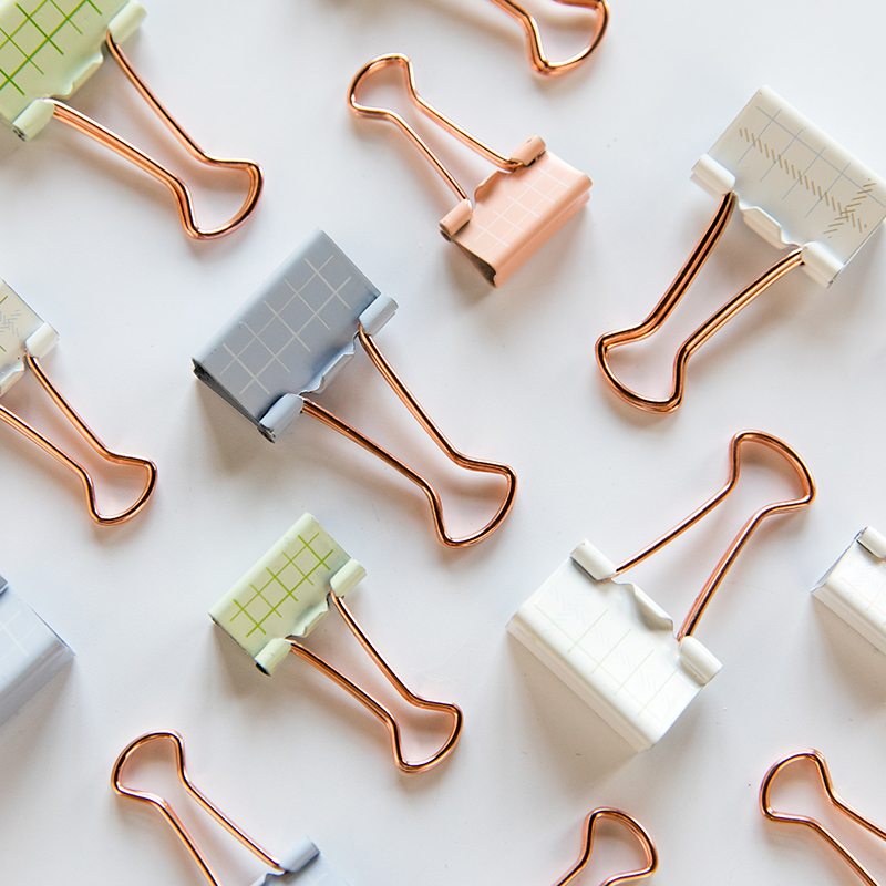 Metal Long Tail Clip Office Supplies Receipt Folder Student Data Swallow Tail Clip Office Accessories Paper Clips Binder Clips