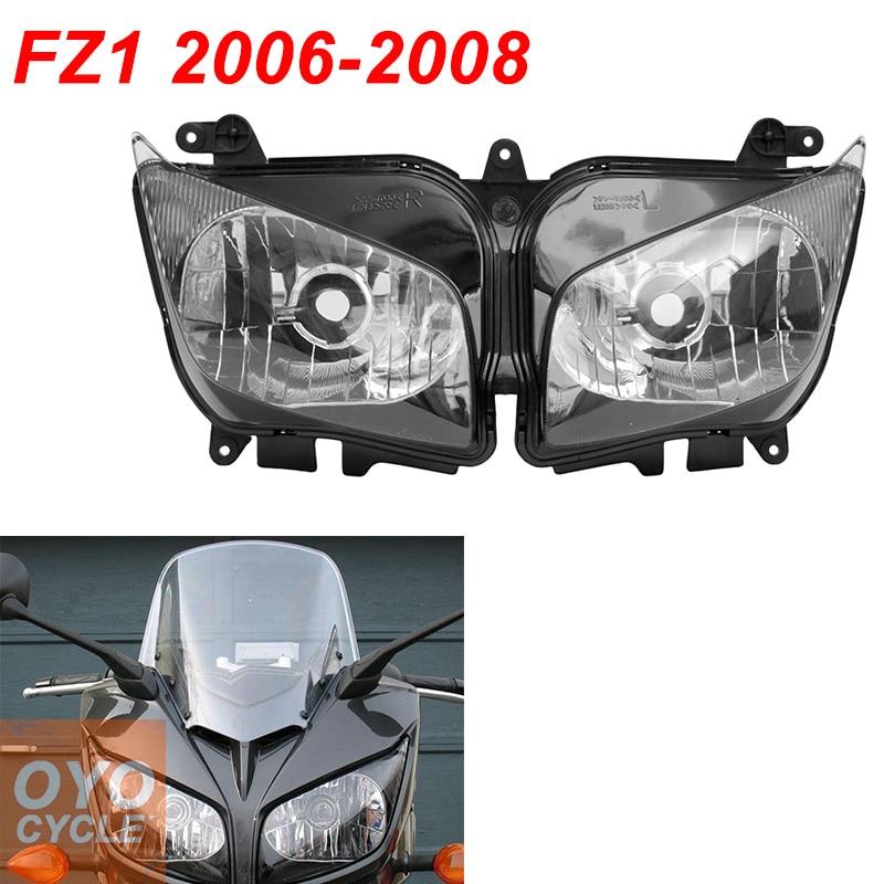 For 06-08 Yamaha FZ1 FZ1000 Fazer Motorcycle Front Headlight Head Light Lamp Headlamp CLEAR 2006 2007 2008
