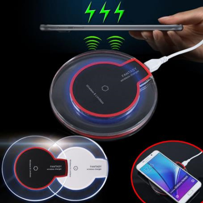 50pcs Crystal Charging Pad Universal Android Wireless