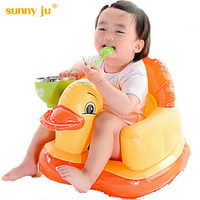 Baby Inflatable Chair Children S Feeding Portable Folding Sofa Infant Game Puff Dining Bath Chair Plastic