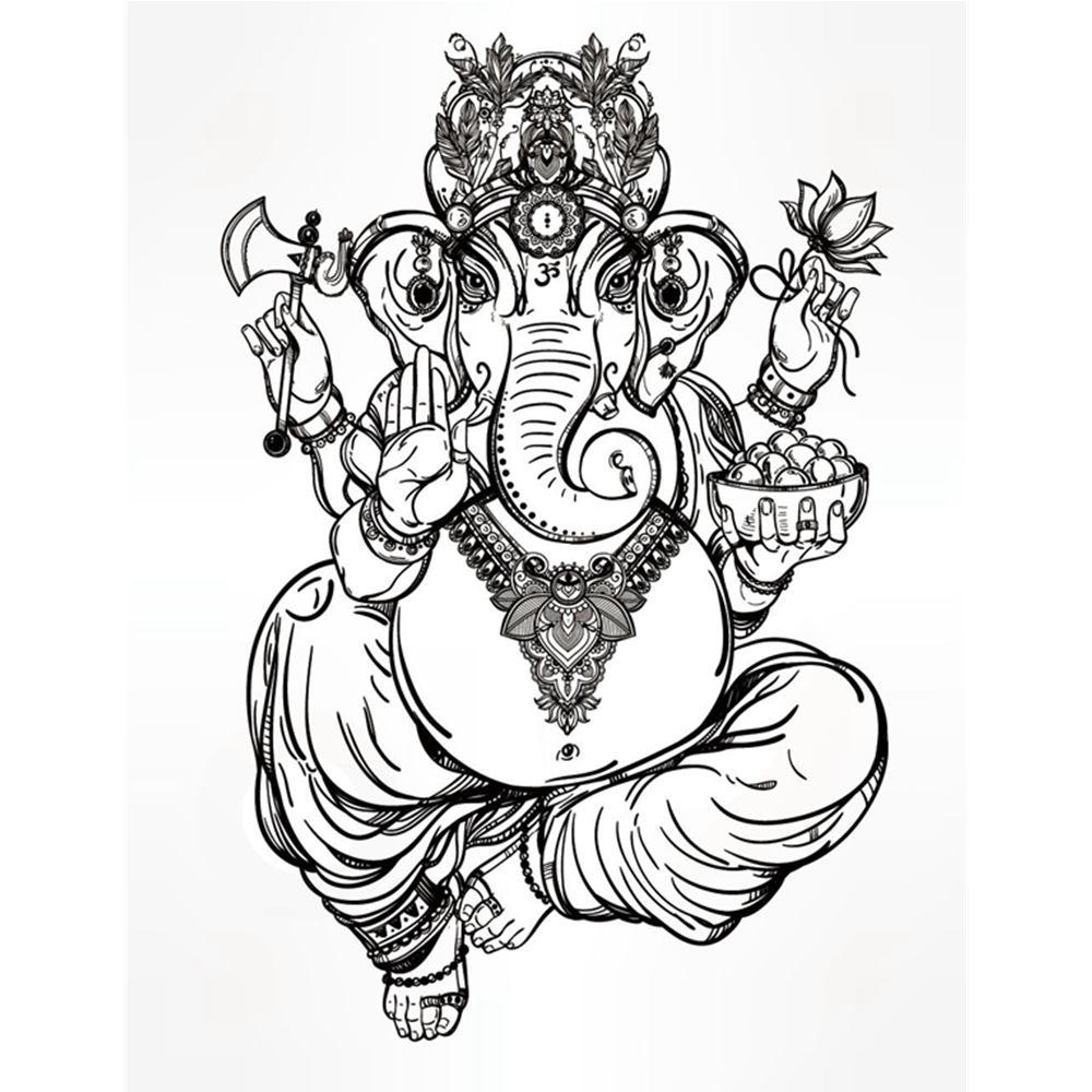 Paling Keren Sketsa Gambar Dewa Ganesha Tasya Schuh