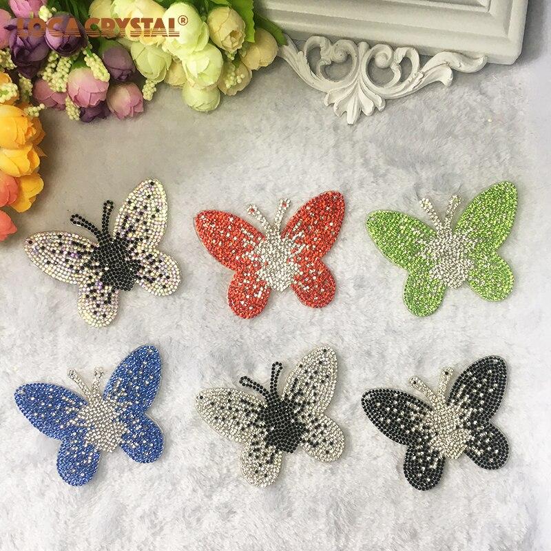 1pcs 8 * 6cm oblika metulja ustvarjalni kristalni obliž 6 barv - Umetnost, obrt in šivanje