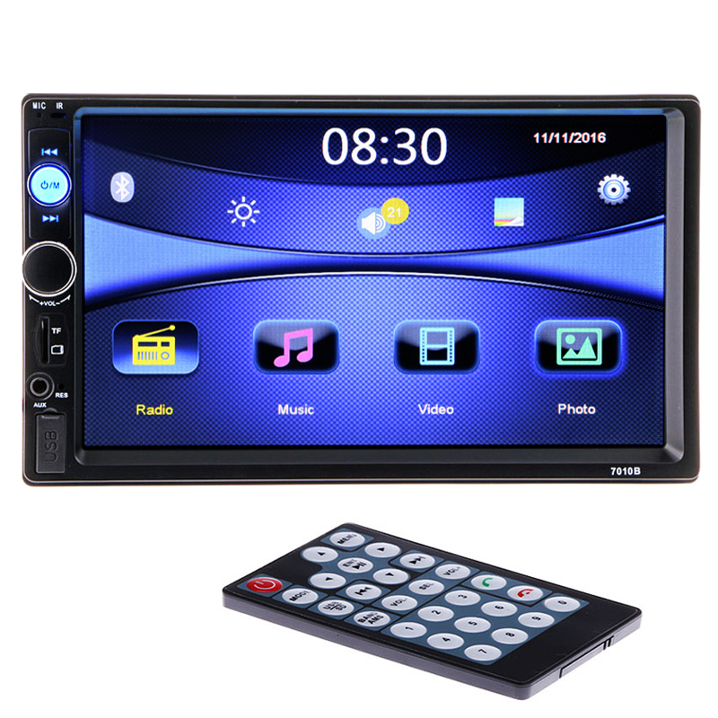 2 din car multimedia video player 7 39 39 hd bluetooth stereo. Black Bedroom Furniture Sets. Home Design Ideas