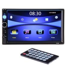 "2 din Car Multimedia Video Player 7"" HD Bluetooth Stereo Radio Audio FM MP3 MP4 MP5 USB AUX Auto Electronics autoradio NO DVD"