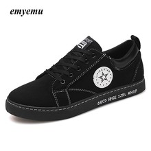 EmyEmu Hot Sale Men Fashion Casual Shoes Man Vulcanize Lace-up Low Top Pipe Retro