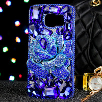 Luxus Mädchen Dame Frau Diamant Blumen BLUELOVER Telefon Abdeckung Fall Für Samsung Galaxy hinweis 8 A5 A7 A8 A9 C7 C9 J3 J5 J7 2016 2017