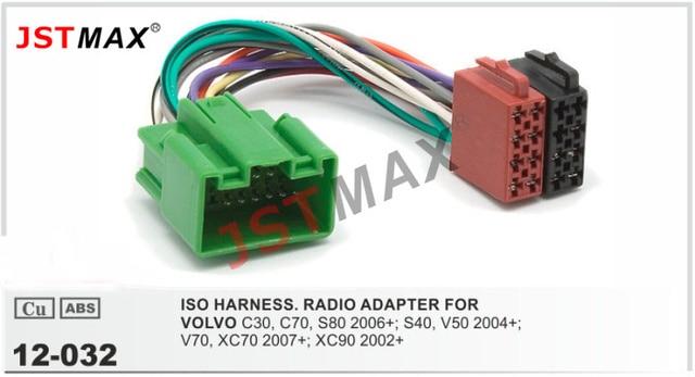 JSTMAX ISO Radio Plug for VOLVO C30 C70 S80 S40 V50 V70 XC70 XC90