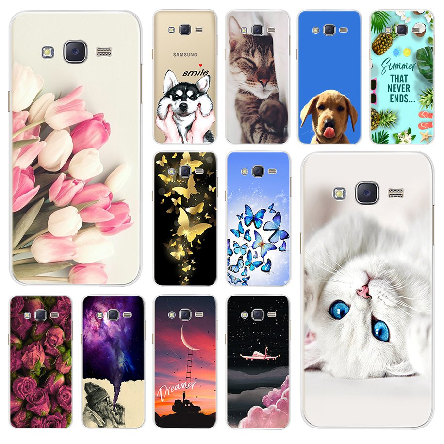 Flower-Cases Painting-Bumper J320 Soft Samsung Galaxy FOR Cover TPU