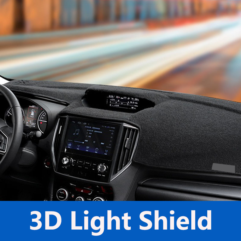 QHCP Car Dashboard Mat Polyester 3D Avoid Sun Light Pads Instrument Platform Desk Cover Carpet For