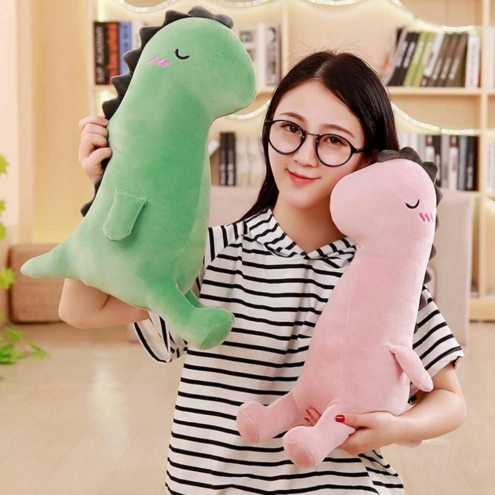 Cerca de 40 cm verde dinossauro dos desenhos animados de pelúcia brinquedo de presente de natal da boneca de algodão macio b2870