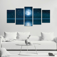 Home Decor Ocean Moon Wall Painting For Living Room 3d Bedroom Pictures On The Wall