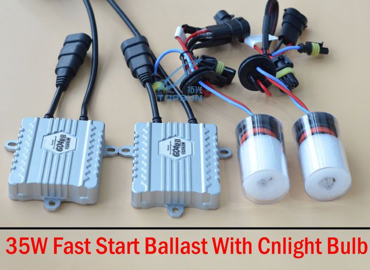 GZTOPHID GZTOPHID HID xenon Kit 35W FAST START HID Ballast And Cnlight Straight Bulb H1 H3 H7 H8 H9 H10 H11 H27 9005 9006 gztophid made in japan denso ballast d4s d4r xenon ballast