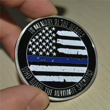 Blue Lives Matter X-large Collectible Police Challenge coin Thin Blue Line стоимость