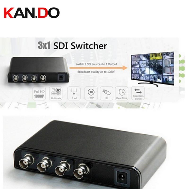 631 3-port SDI AV Switcher 3 Way SDI Switcher SDI Selector Box With Remote 3 Port Input And 1 Output Video Converter Adapter