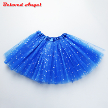2019 Children's Clothing Girls Tutu Skirts Baby Fashion Pettiskirt Star Print Mesh Princess Girls Ballet Dancing Party Skirt