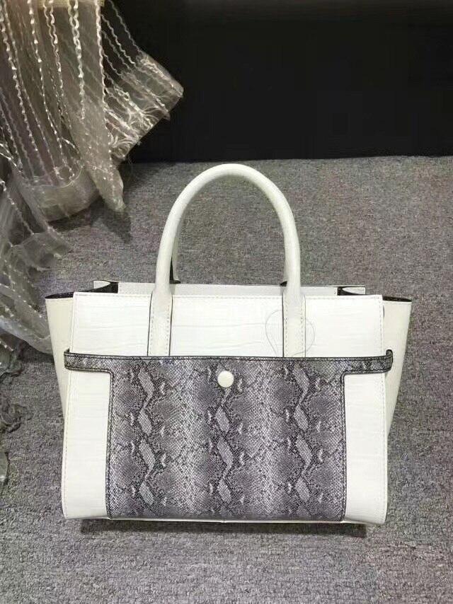 2017 new arrival serpentine leather women handbag luxury brand vintage snake pattern shoulder bag designer female work tote bag
