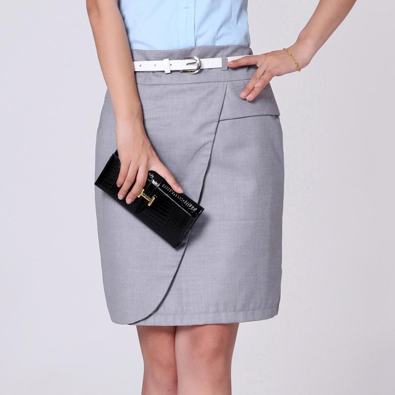 Korean Office Lady Fashion Pencil Skirts Plus Size S 4XL Black ...