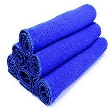 1 шт 30*30 см голубое мягкое полотенце для чистки из микрофибры Авто стирка сухая чистая Полировка ткань Высокое Качество Микрофибра для автомобиля#0726