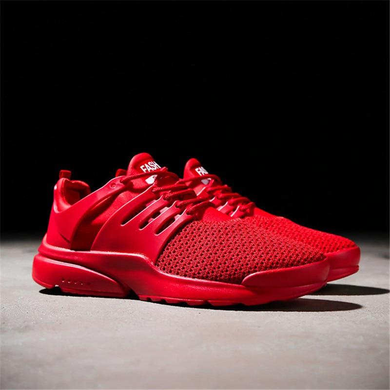 Black Casual Maille Marche Chaussures tissé red Plates De Baisse Gratuite Blanc Respirant Fly white Hommes Mocassin Sneakers D'été Extérieure Nouvelle f5n6Tq0