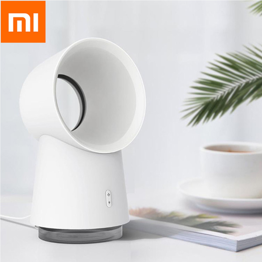 11 Youpin Happy Life 3 in 1 Mini Cooling Fan Bladeless Desktop Fans Mist Humidifier with LED Light 3 Speed for Outdoor Home image