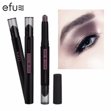 Double-headed Shiny Color Eye Shadow Pencil 6 Colors Eyeshadow Stick 2.1g  Eyes Makeup Brand EFU #7576