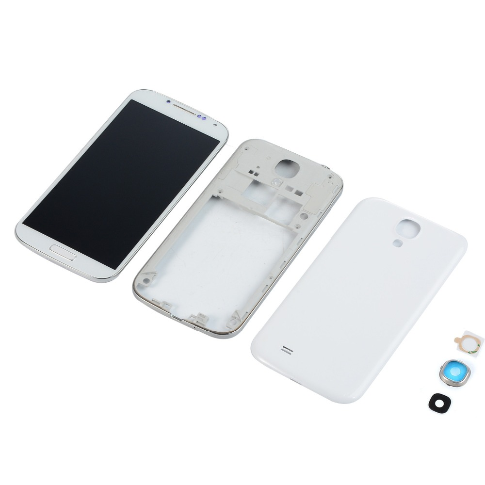 For <font><b>Samsung</b></font> <font><b>Galaxy</b></font> <font><b>S4</b></font> <font><b>I9500</b></font> I337 i9505 LCD Display <font><b>Touch</b></font> <font><b>Screen</b></font>+Housing Middle Frame Cover+Battery Back Cover+Camera Lens Cover image