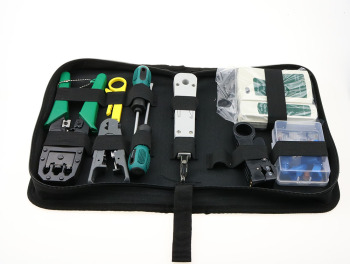 11 in 1 Computer Network Repair Tool Kit LAN Cable Tester Wire Cutter Screwdriver Pliers Crimping Maintenance Tool Set