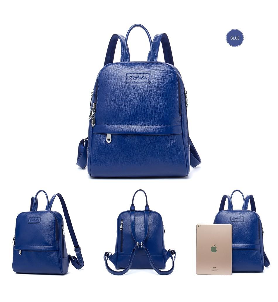 Bostanten Fashion Genuine Leather Backpack Women Bags Preppy Style Backpack  Girls School Bags Zipper Shoulder Women s Back Pack 8a9ddc411f