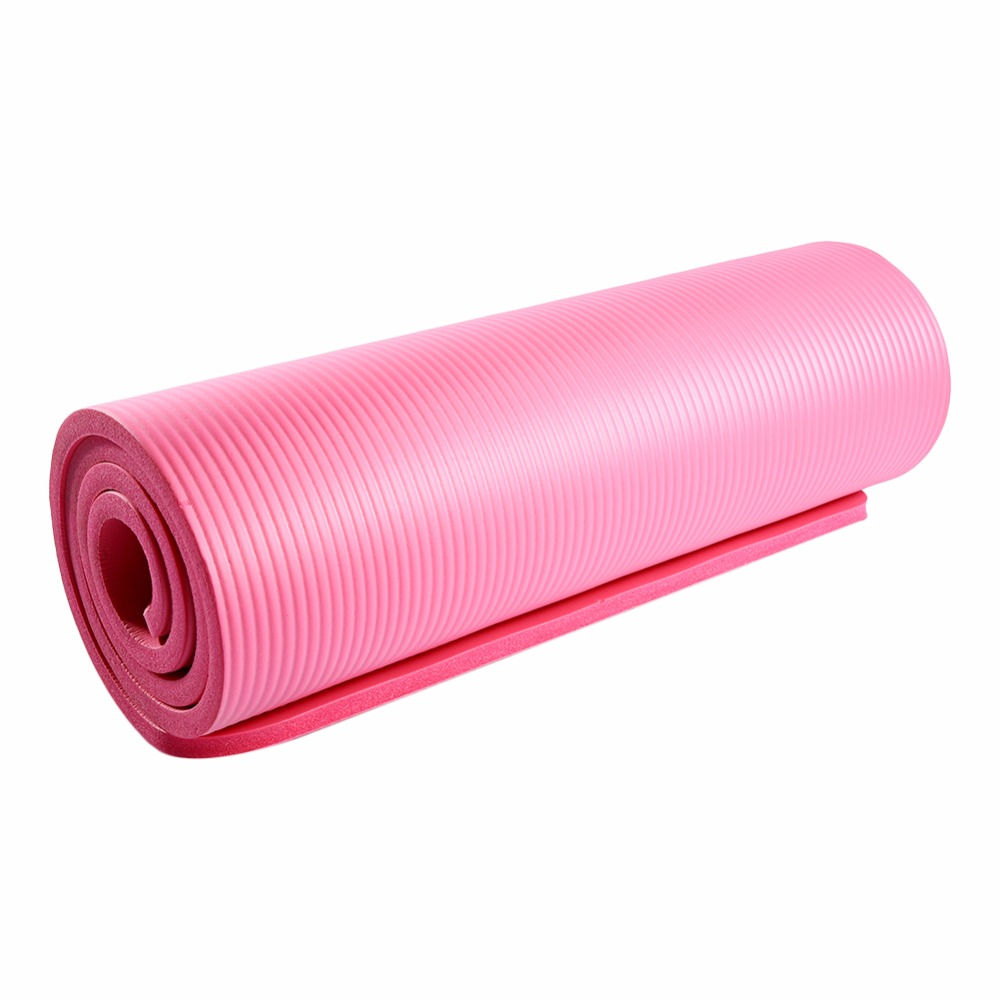15mm Pink Non Slip Yoga Mat Nbr Thicken Soft Yoga Pad Gym Fitness Mat Big Size 183x61x1 5cm Fitness Equipment Www Thetrainingshack Com